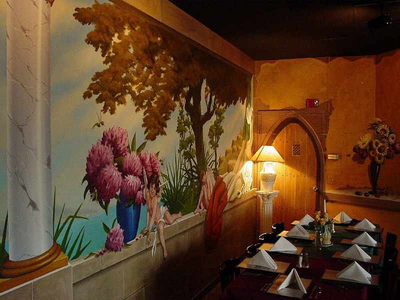 Fred choate murals 1 for Mural restaurant